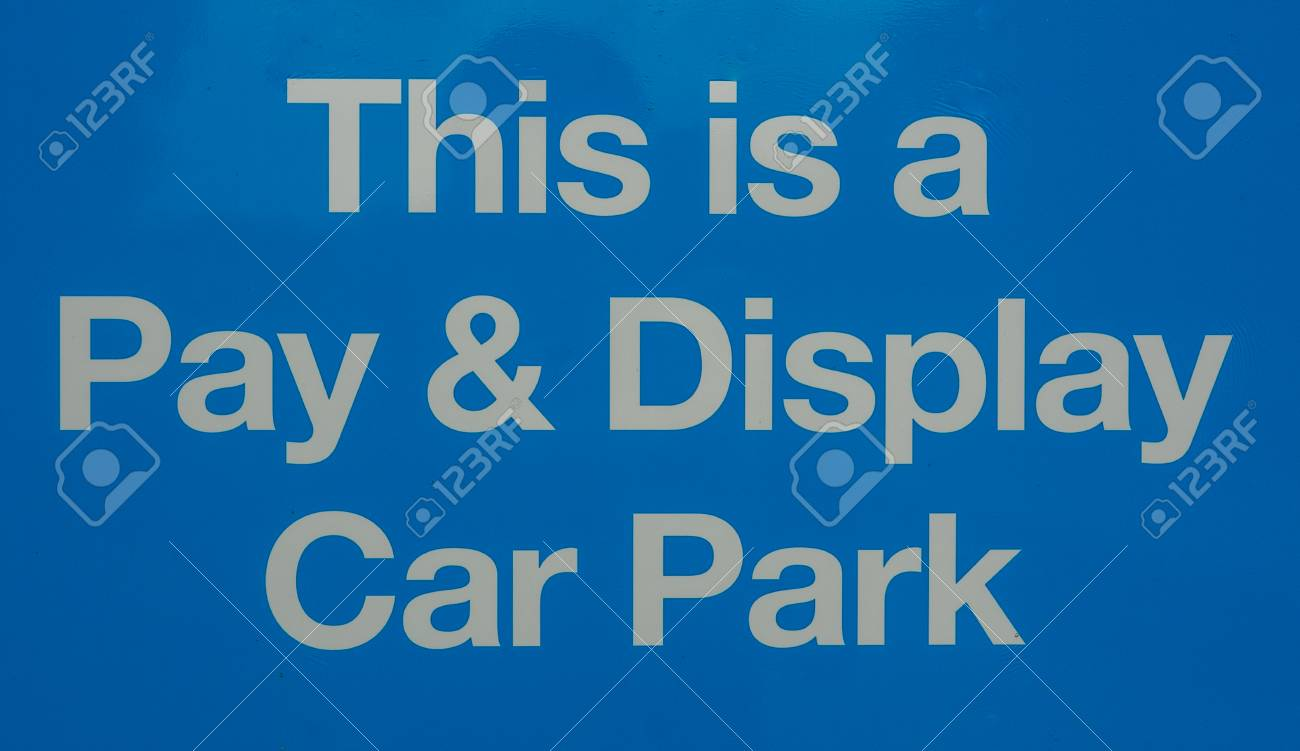 Pay and Display car parking sign - 80416074