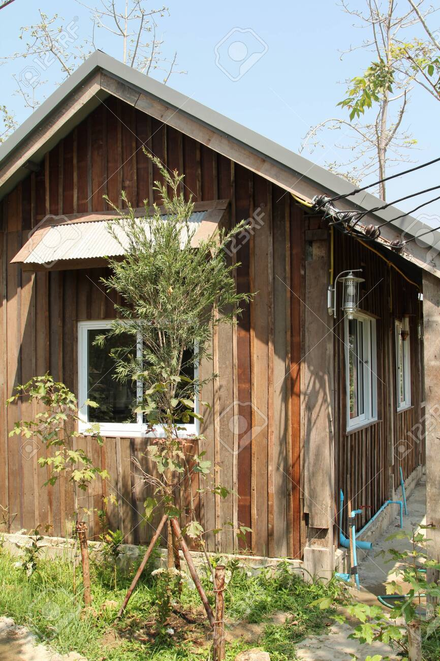 Small Wooden House In The Farm Stock Photo Picture And Royalty Free Image Image 148439971