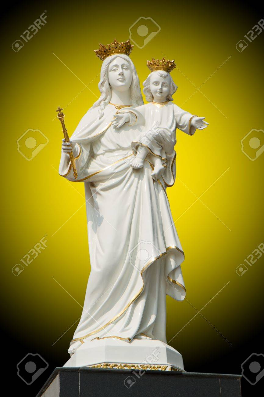 Virgin Mary (Mother Mary) with Baby Jesus Stock Photo - 11062651