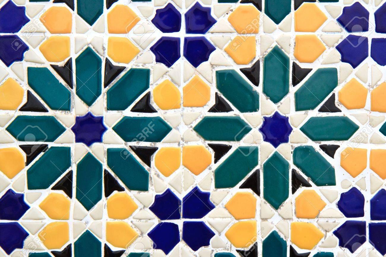 colorful moroccan mosaic wall Stock Photo - 12665642