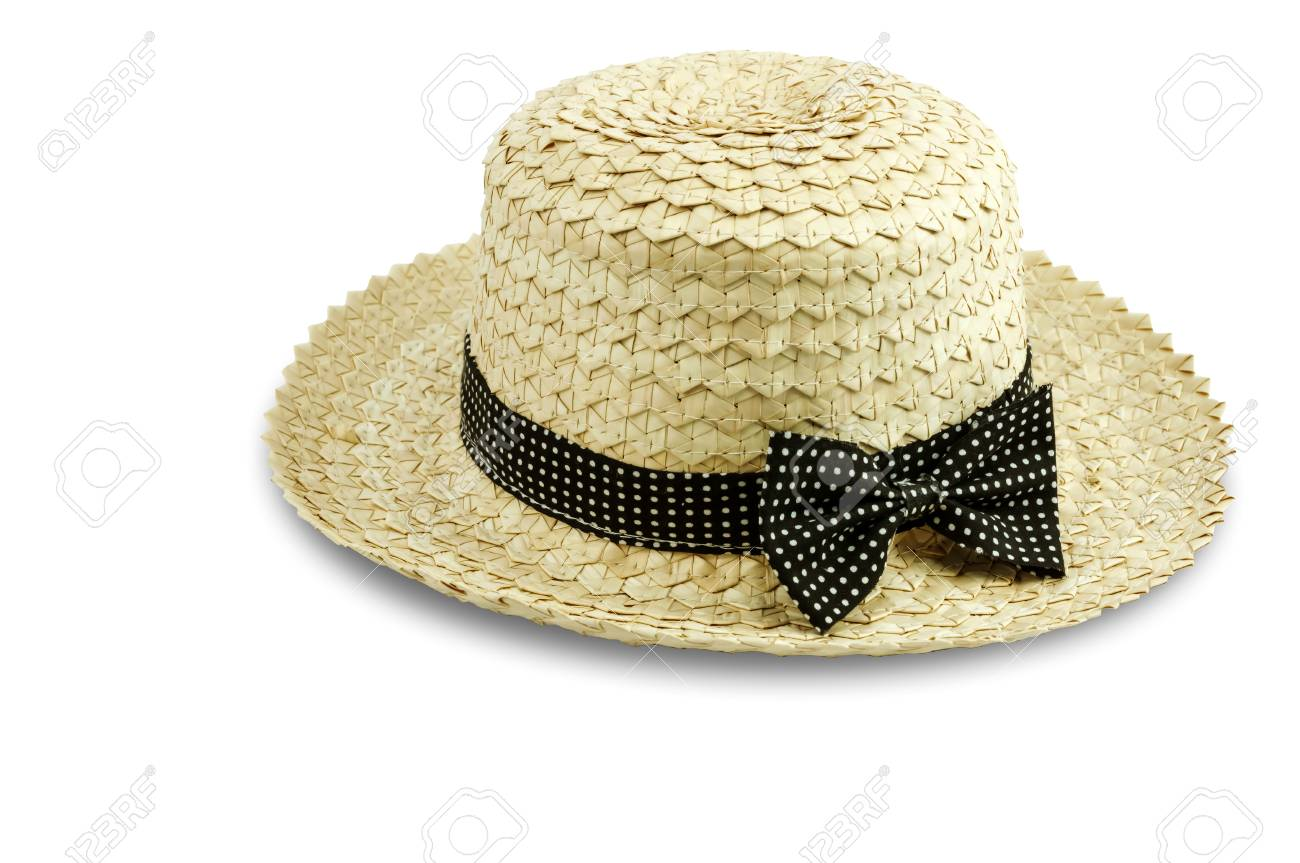 6da162e1 Stock Photo - Woman hat isolated on white background with Clipping Path