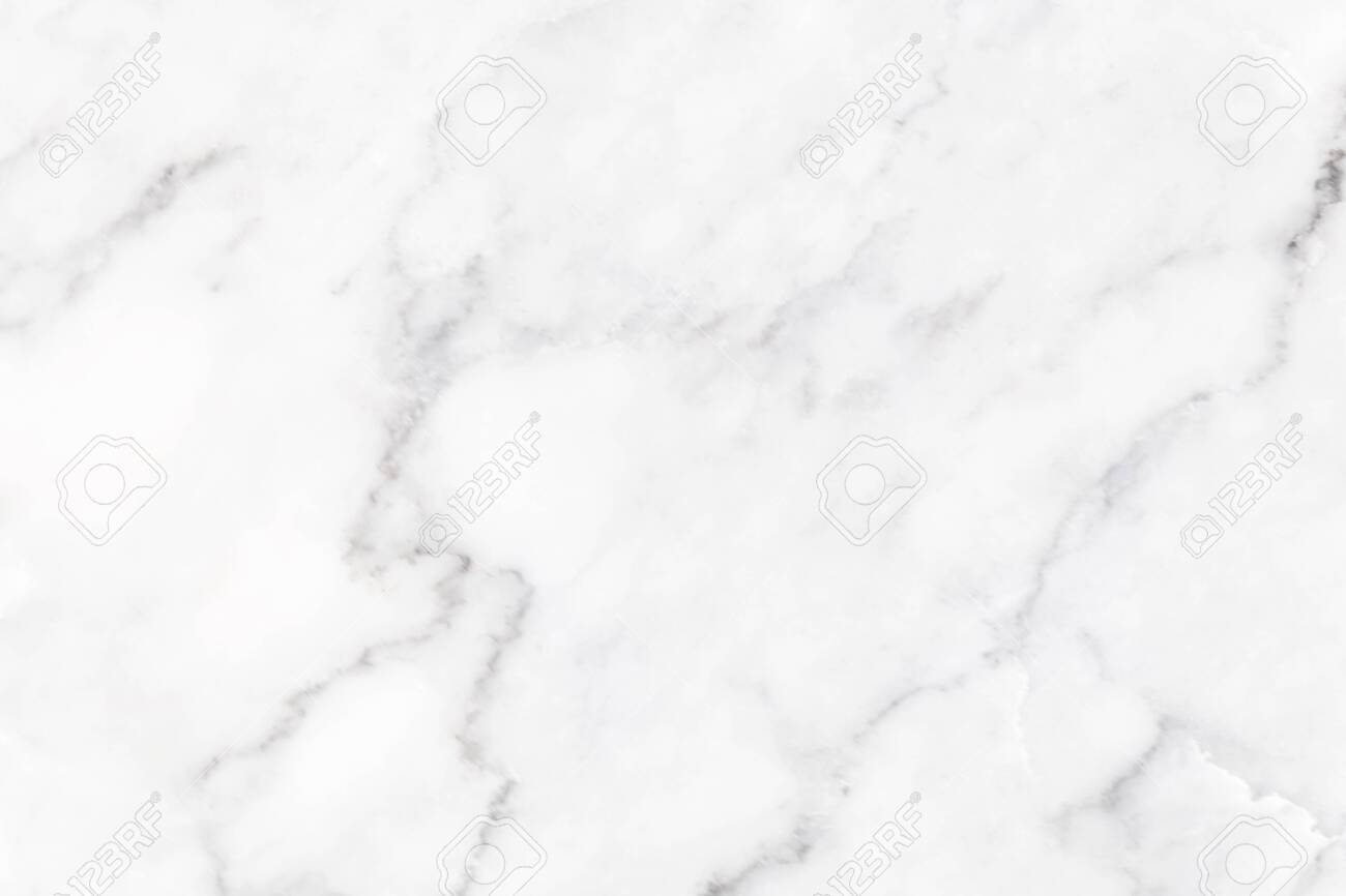 White marble texture with natural pattern for background or design art work. - 126557157