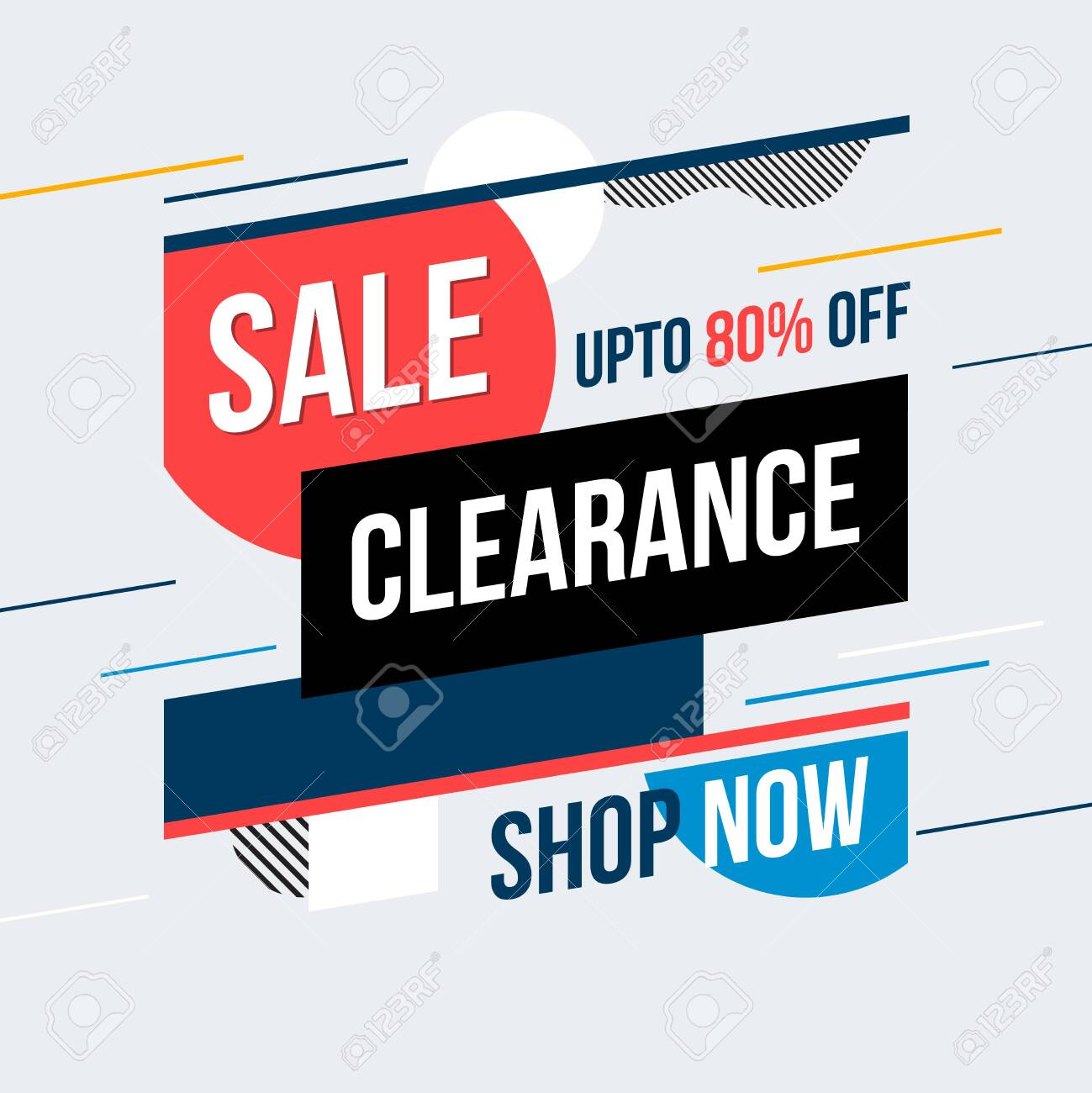 Sale clearance banner. Vector illustration. Concept advertising. - 126186890