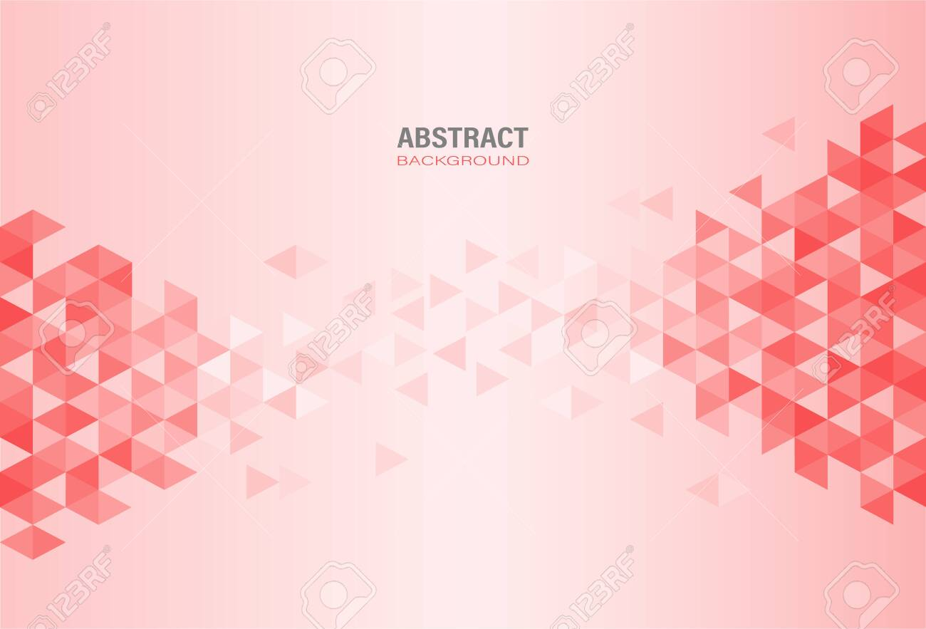 Abstract red modern geometric template on gradient background. Element design with triangle and hexagon shape. Vector Illustration. - 151119431