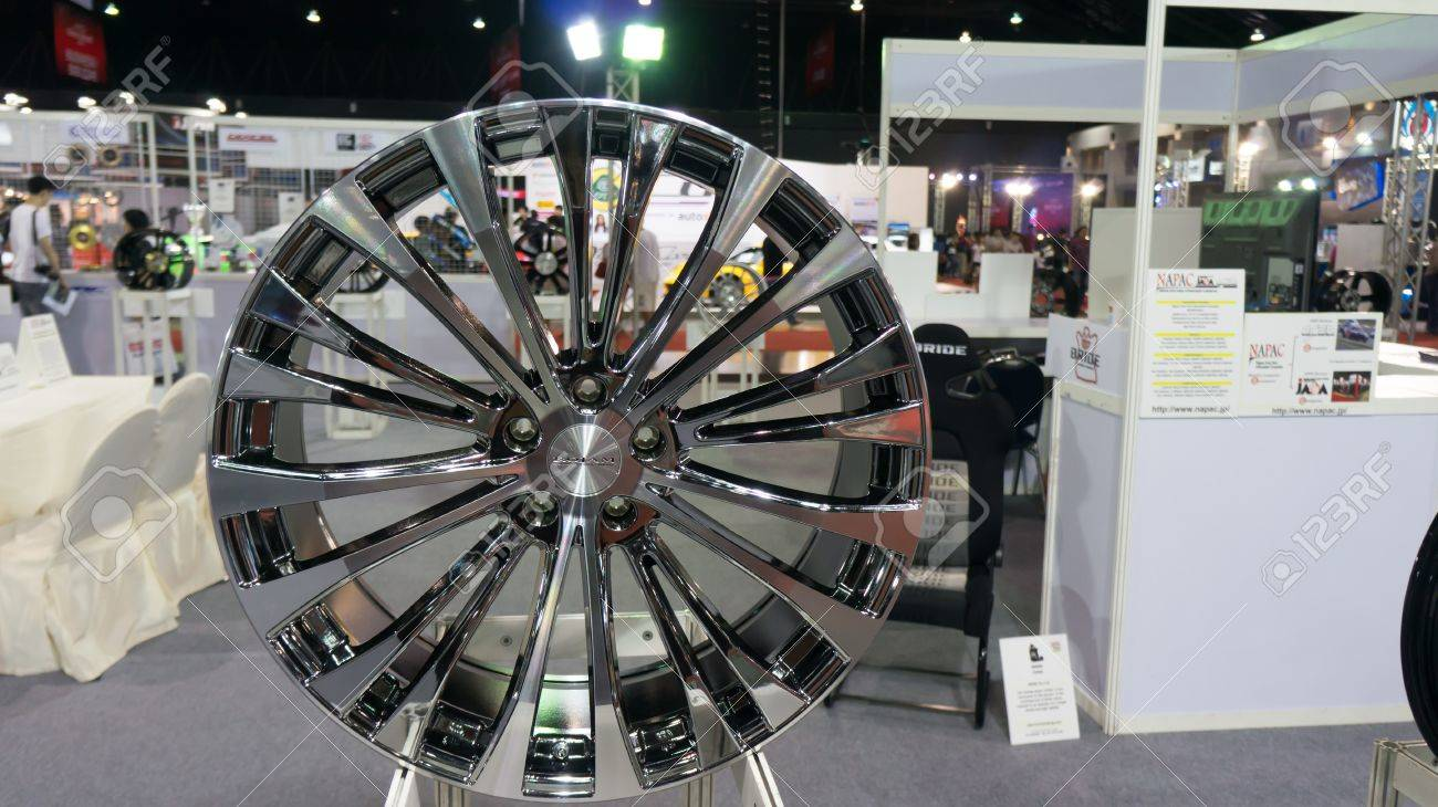 BANGKOK,THAILAND - JUNE 29:Aluminium alloy wheel Show in  bangkokinternationalautosalon