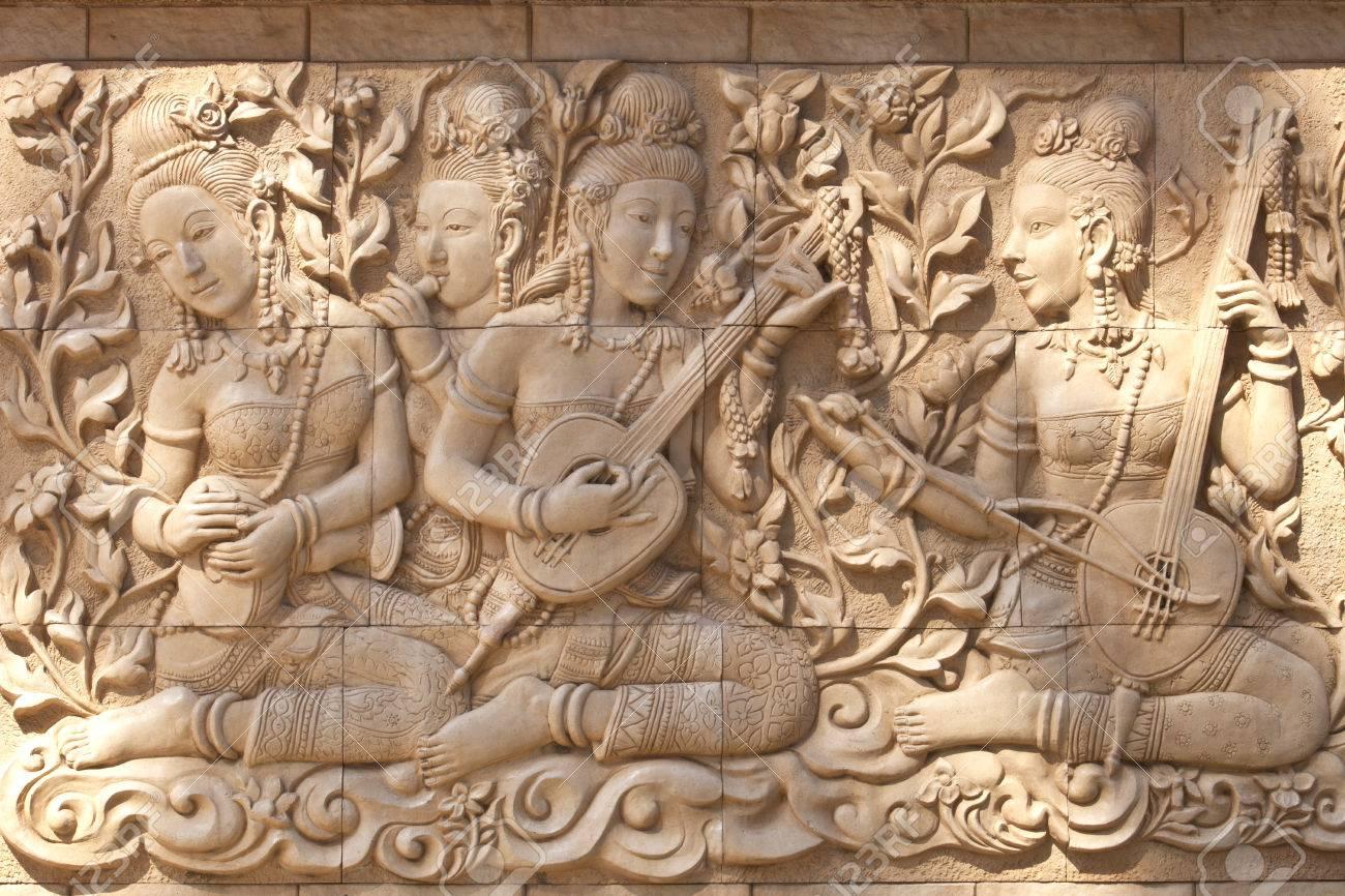 High relief wall sculpture