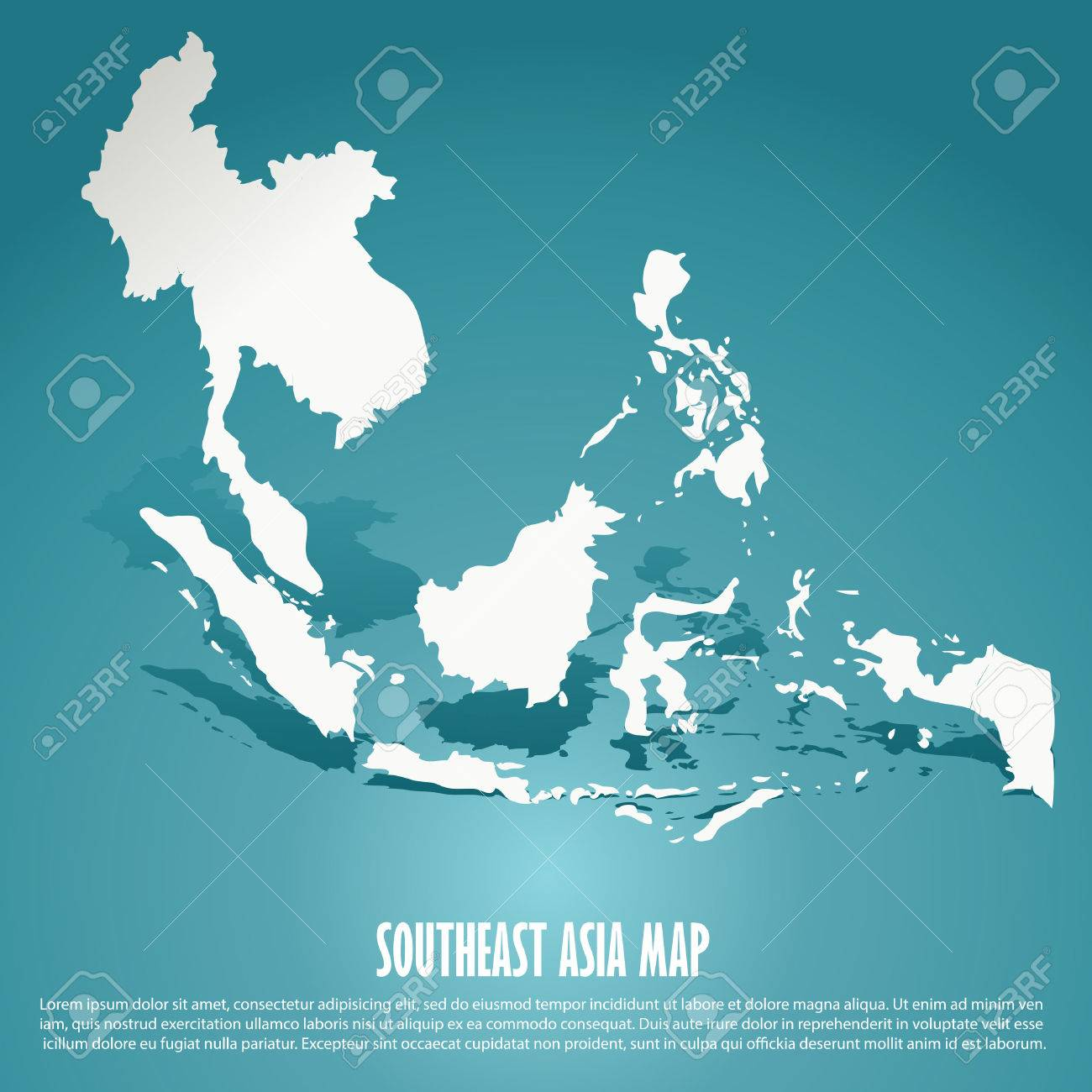 Southeast Asia map, AEC, Asean Economic Community map on green background, vector illustration - 37661634