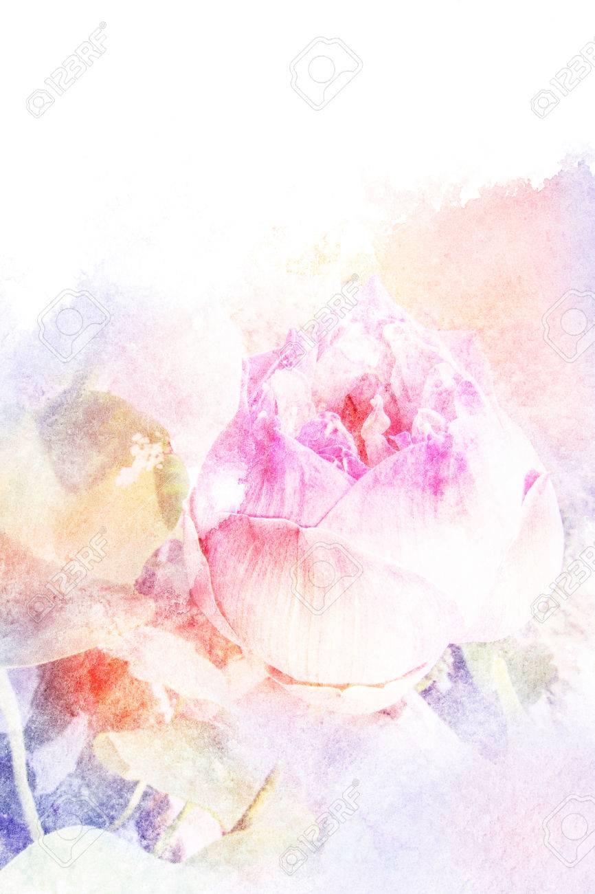 Resume Illustration D Aquarelle De Fleur Fleur Aquarelle Sur