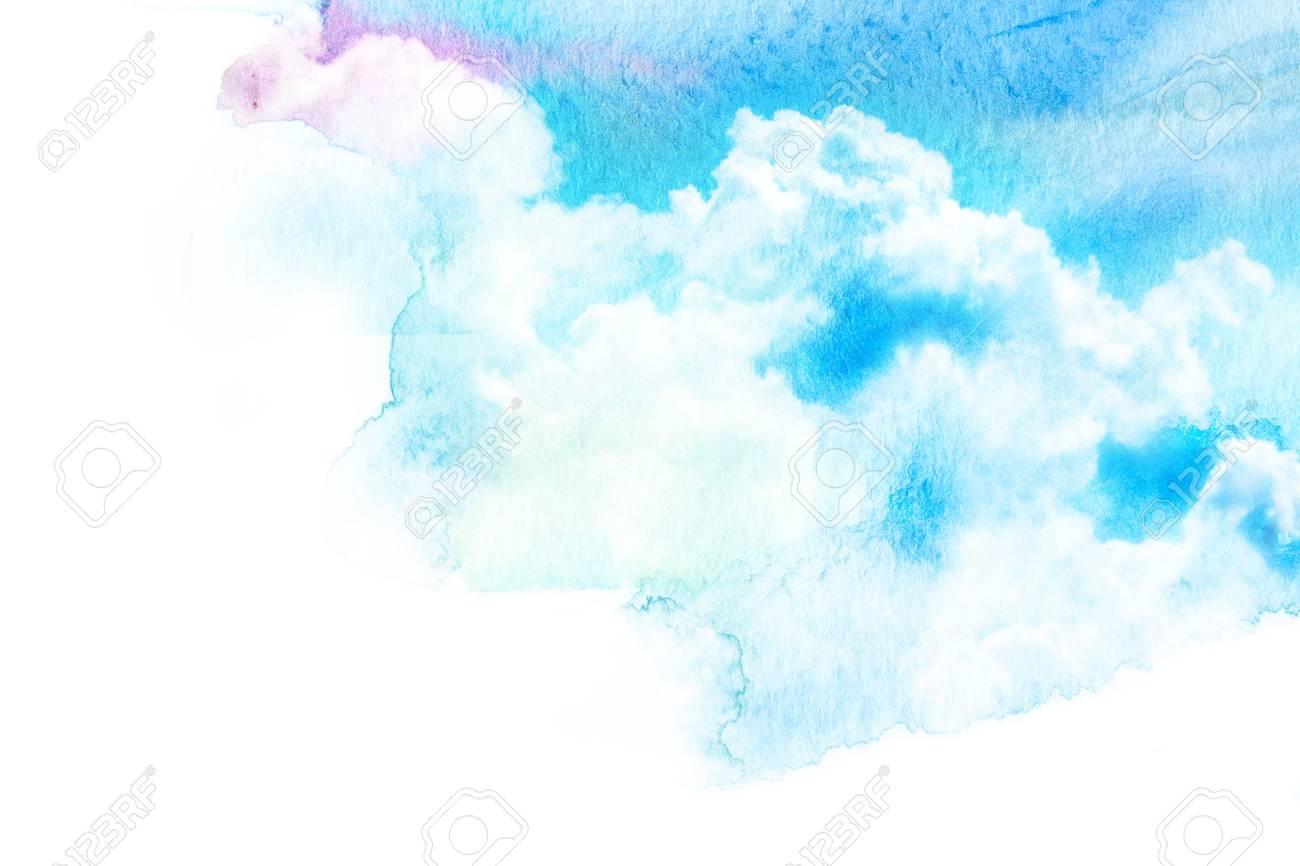 青空 柔らかい 水彩画 背景 素材 フリー Wwwthetupiancom