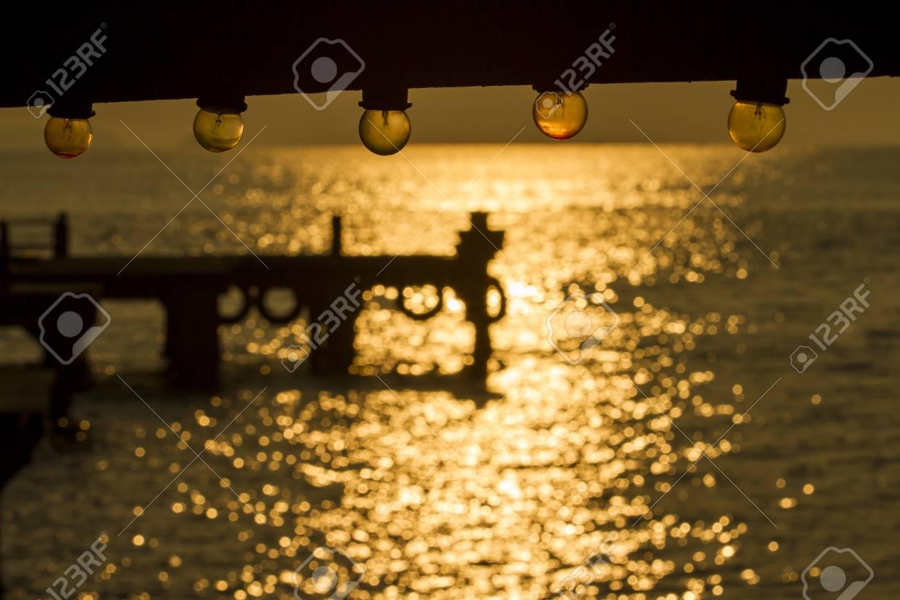 a lamp and sunrise bokeh Stock Photo - 15886937