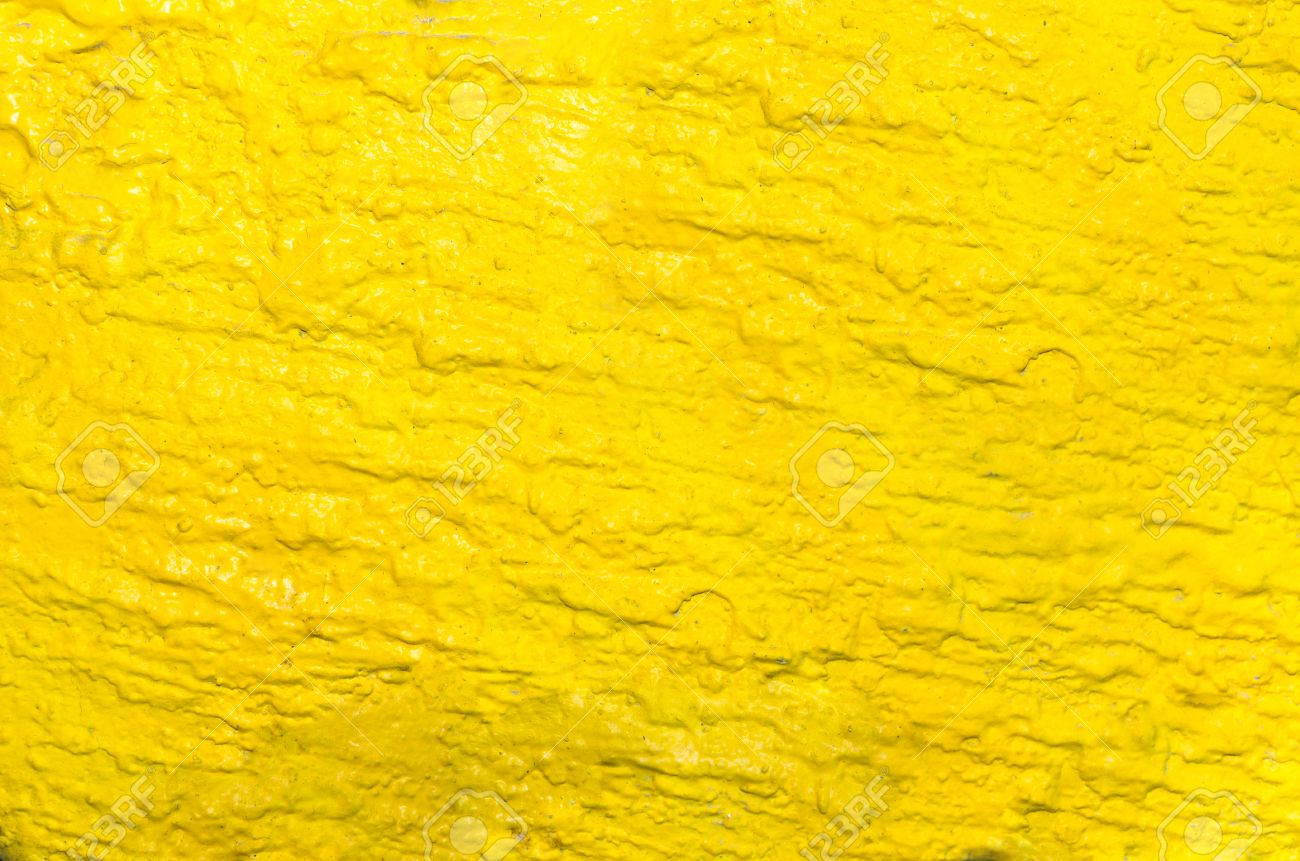 art yellow paint deep color pattern background on the wall. Stock Photo -  33120859