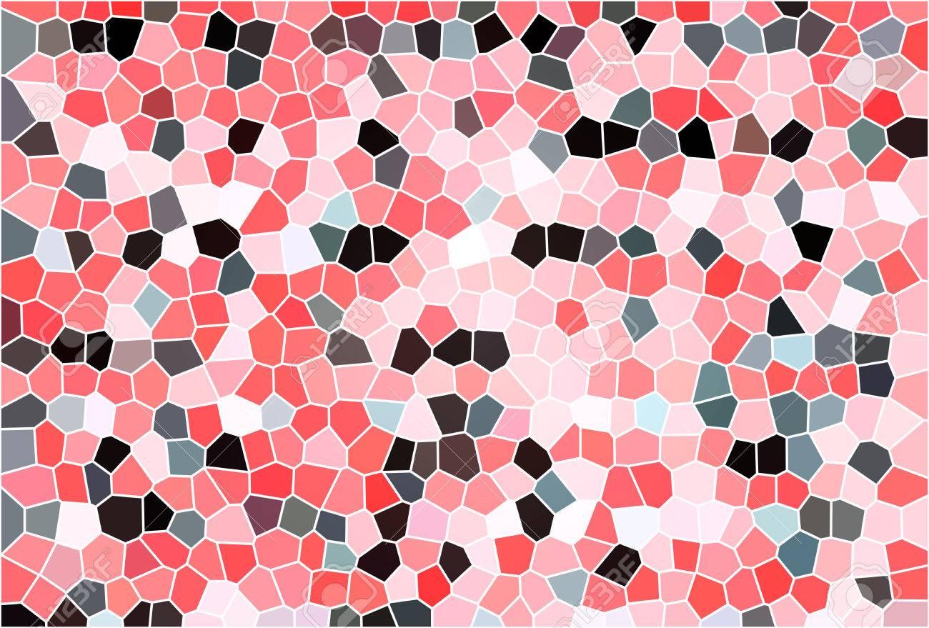 Abstrakte Farbe Rot Weiß Grau Schwarz Mosaik Textur Hintergrund ...