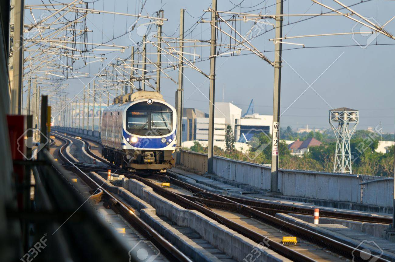 thailand airport link electric train Stock Photo - 11481768