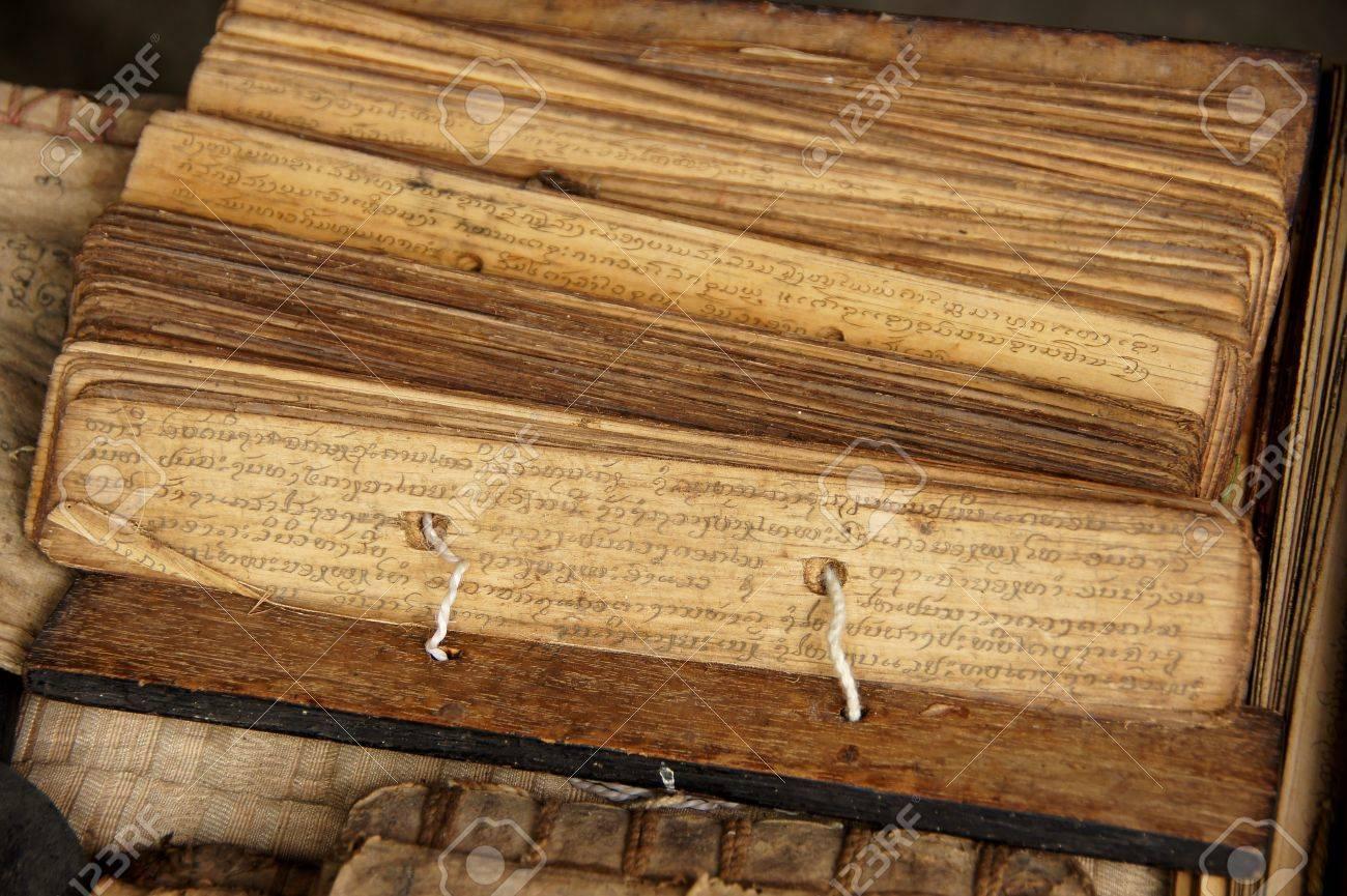 Ancient Buddhist texts  Stock Photo - 15394656