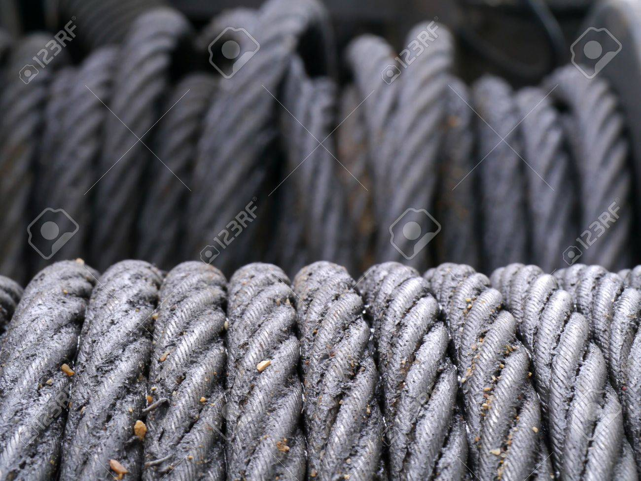 Steel Wire Rope And Grease Stock Photo, Picture And Royalty Free ...