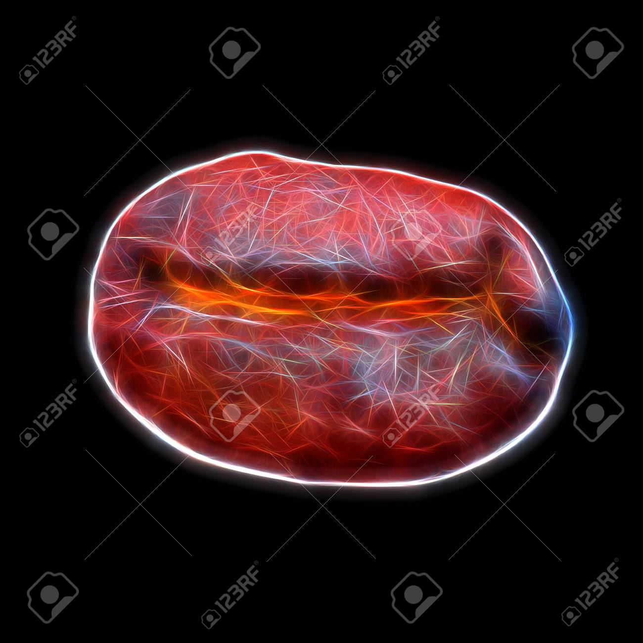 Glow Image Of Roasted Coffee Bean Stock Photo, Picture And Royalty ...