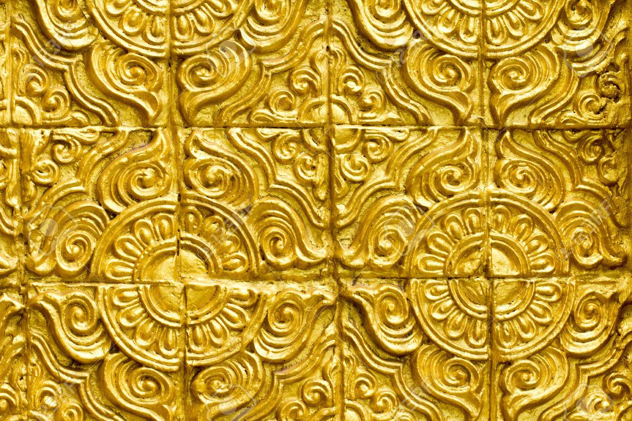 Golden Colour Cement Stucco Abstract Wall Texture Background