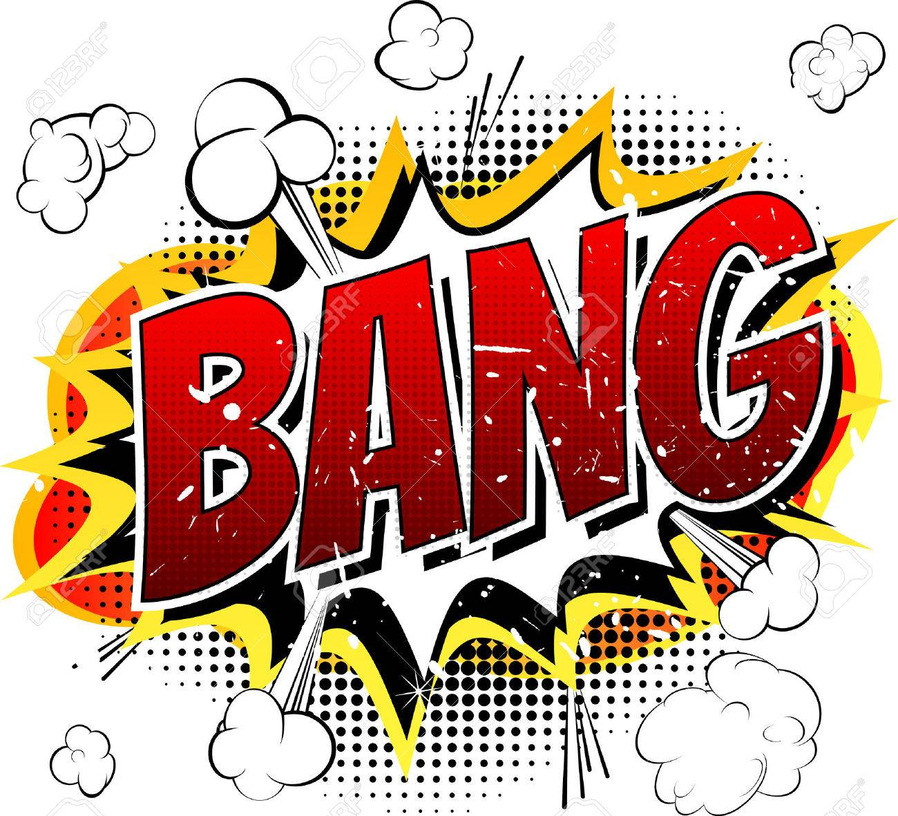 Bang Comic book cartoon explosion isolated on white background. - 40970933