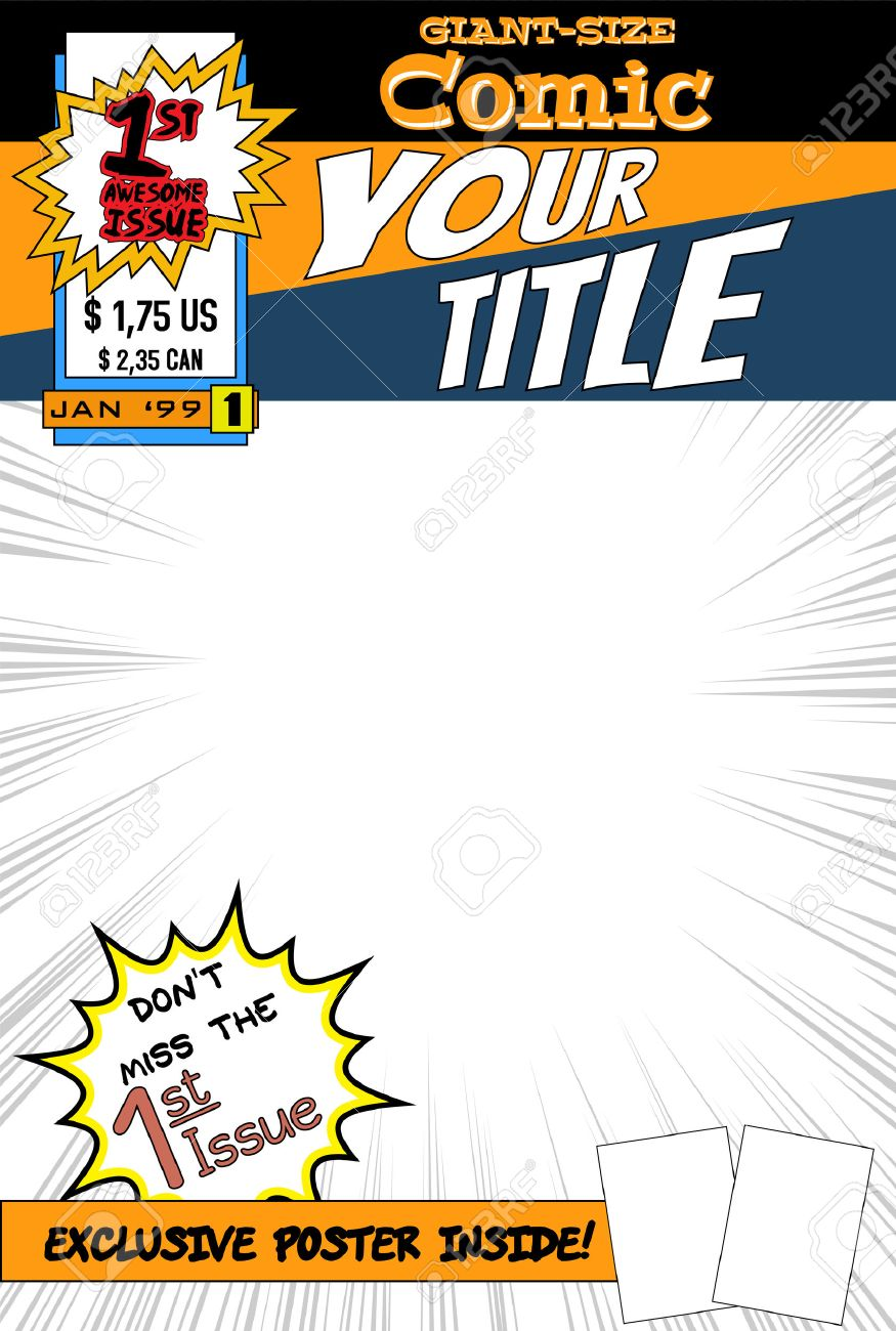 Comic Book Cover. Royalty Free Cliparts, Vectors, And Stock ...