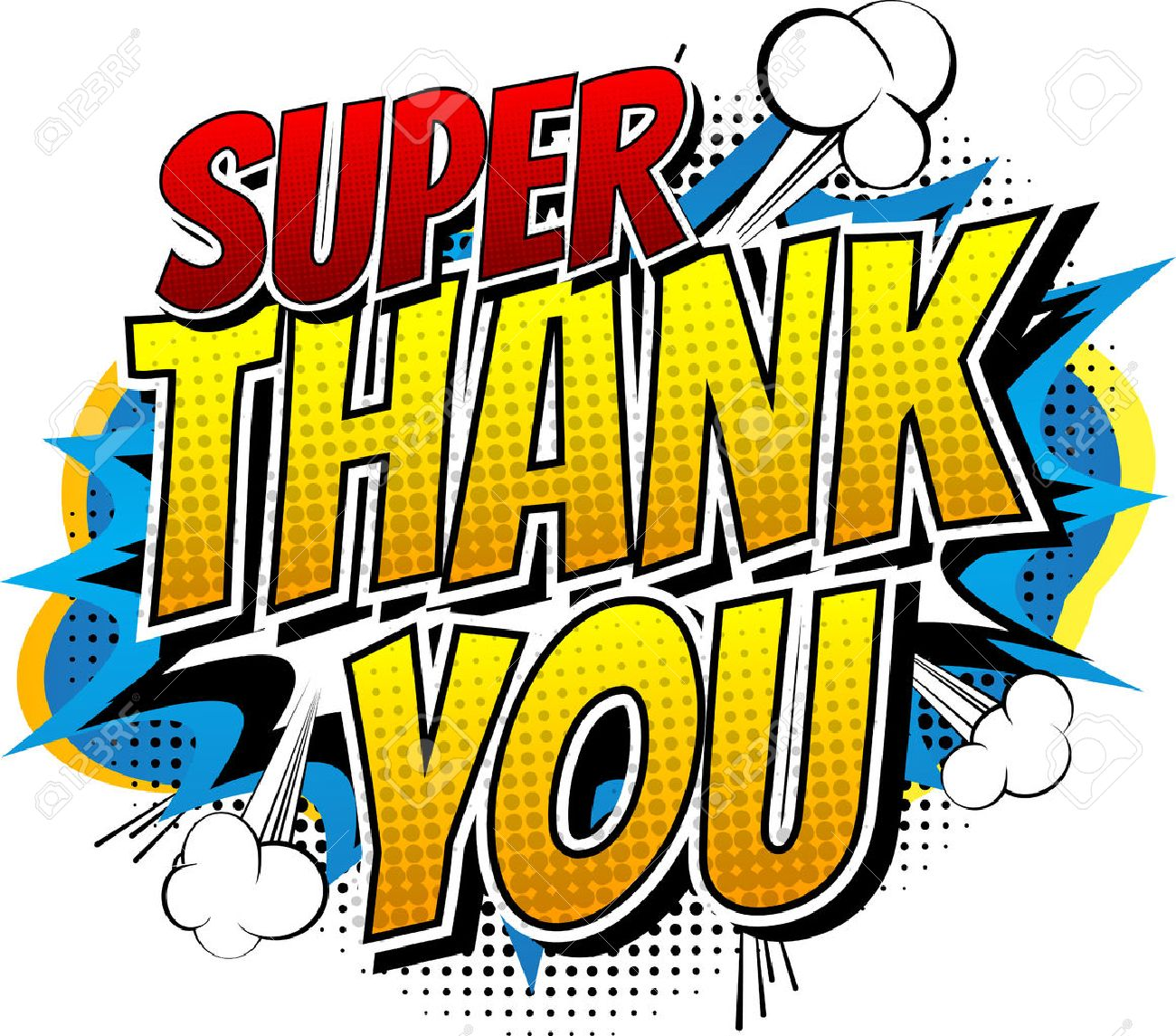 Super Thank You - Comic Book Style Word Isolated On White Background ...
