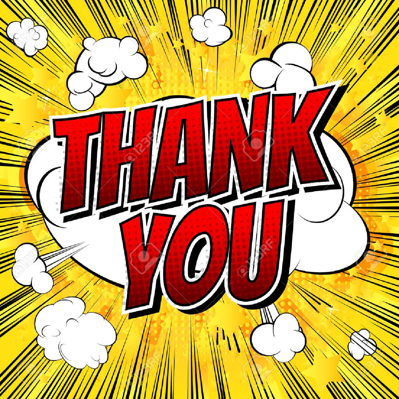 thank you comic book style word on comic book abstract background