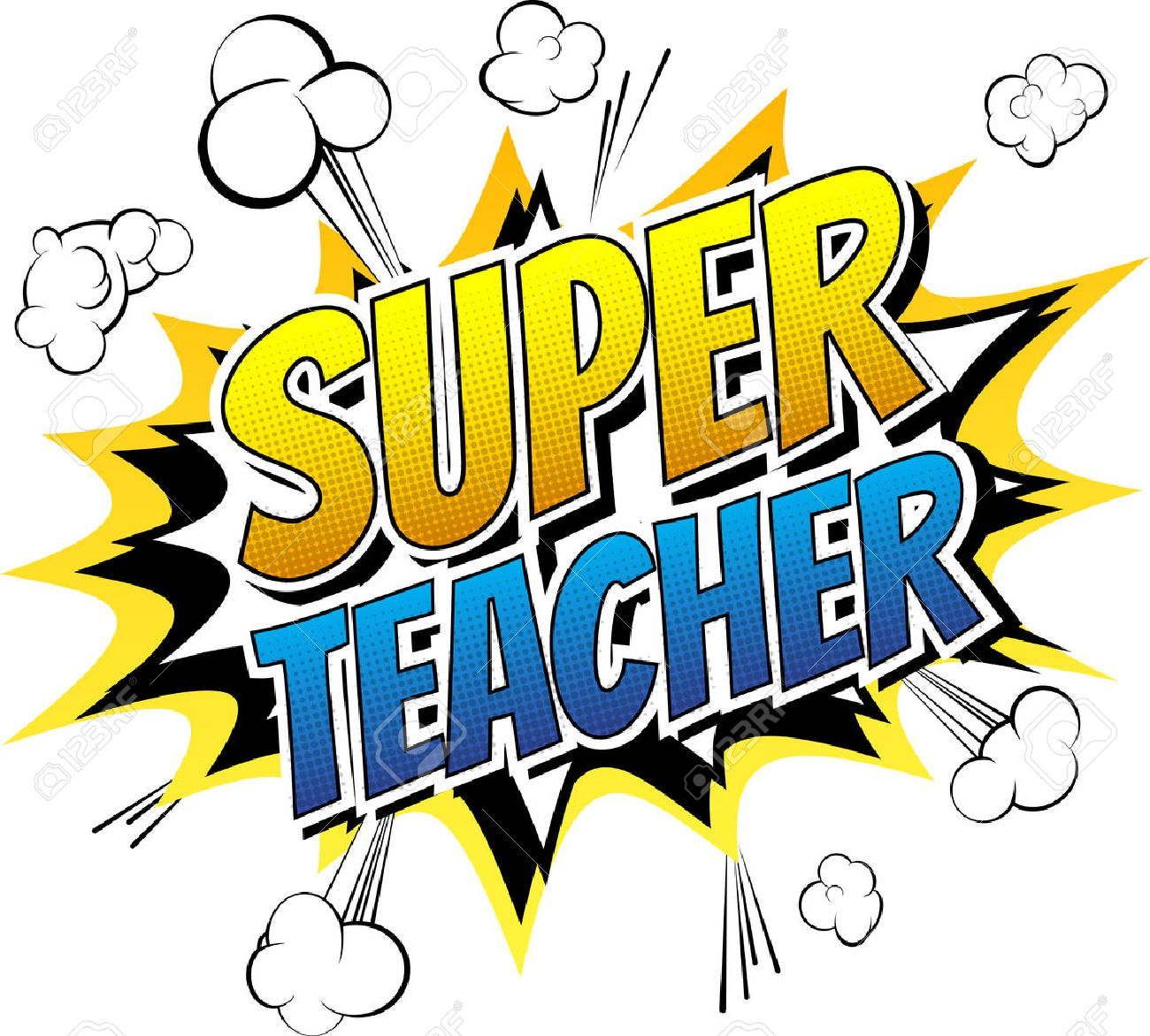 Super Teacher - Comic Book Style Word On Comic Book Abstract ...