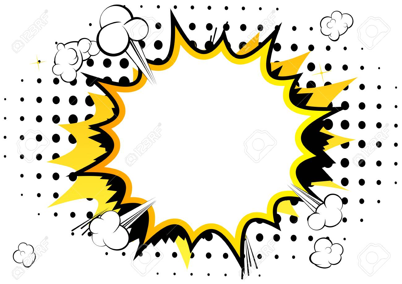 Vector illustrated comic book style background with speech bubbles. - 85855012