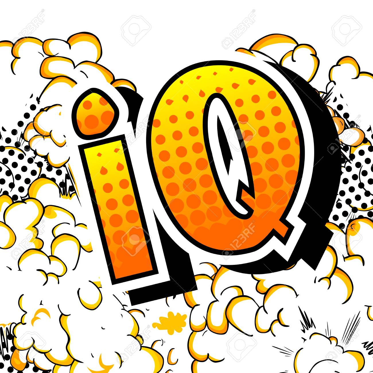 IQ - Vector illustrated comic book style phrase. - 108359193