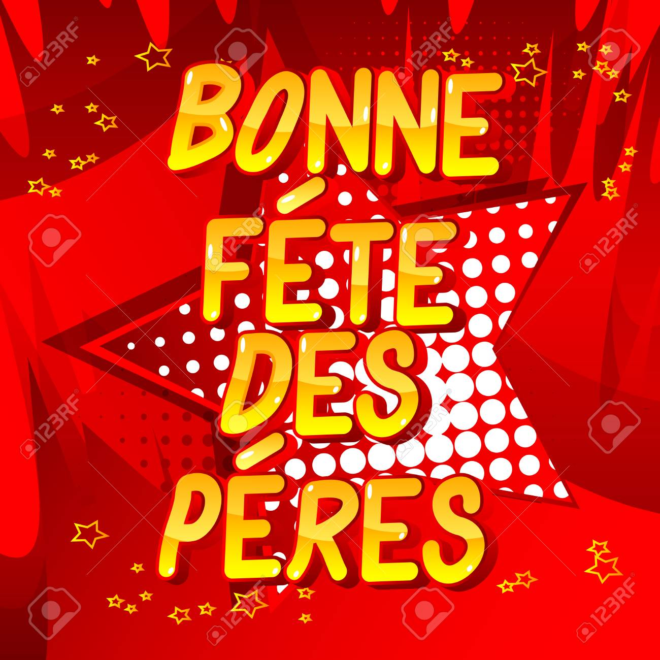 Bonne Fete Des Peres Fathers Day In French Vector Illustrated