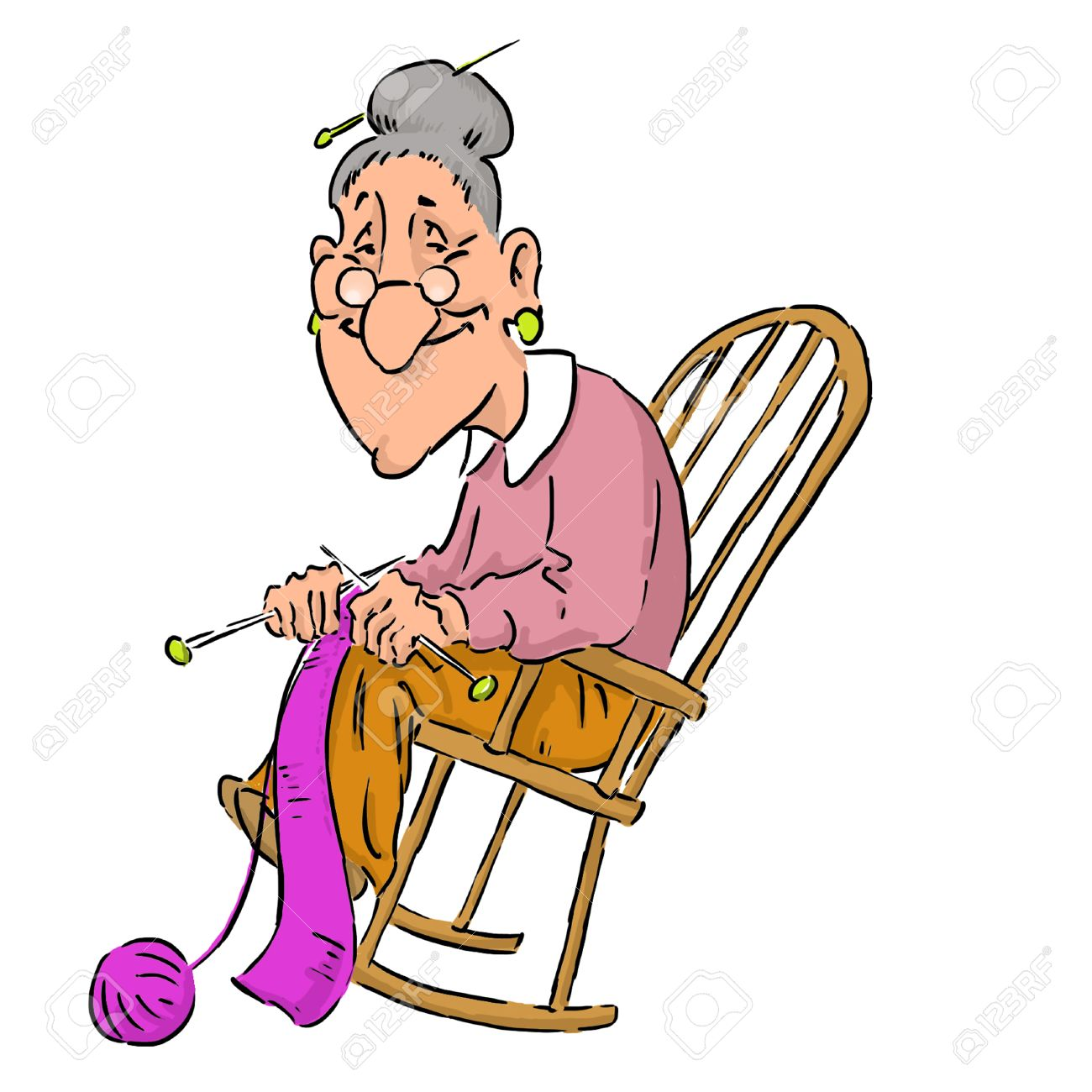 new style 7fdca a50f7 Nice elderly Grandma in a rocking chair.