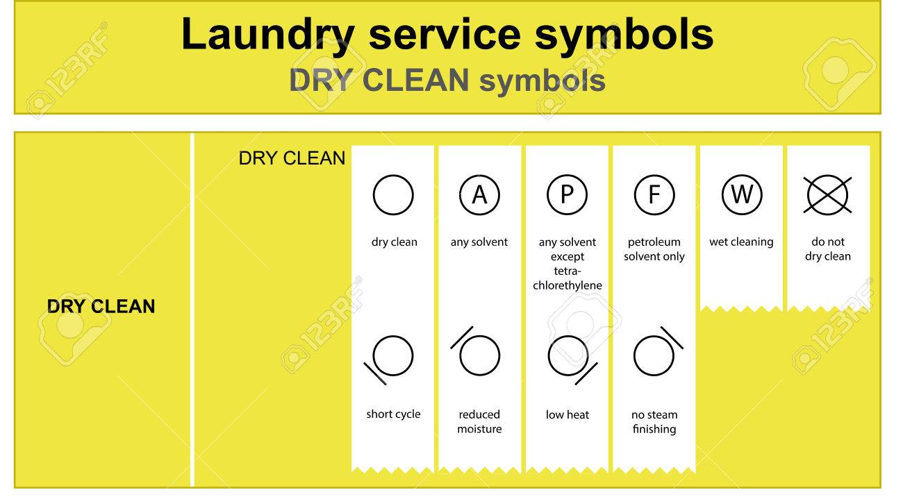 Laundry Service Dry Clean Icon Set Royalty Free Cliparts Vectors