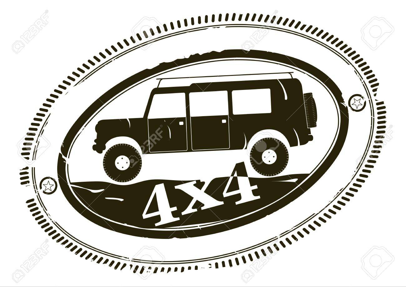 Off road stamp Stock Vector - 20534067