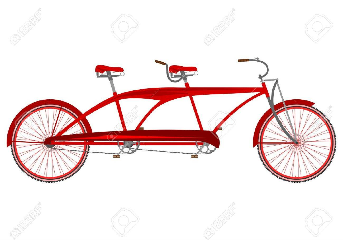 retro tandem bike royalty free cliparts vectors and stock rh 123rf com tandem bicycle clipart tandem bicycle clipart