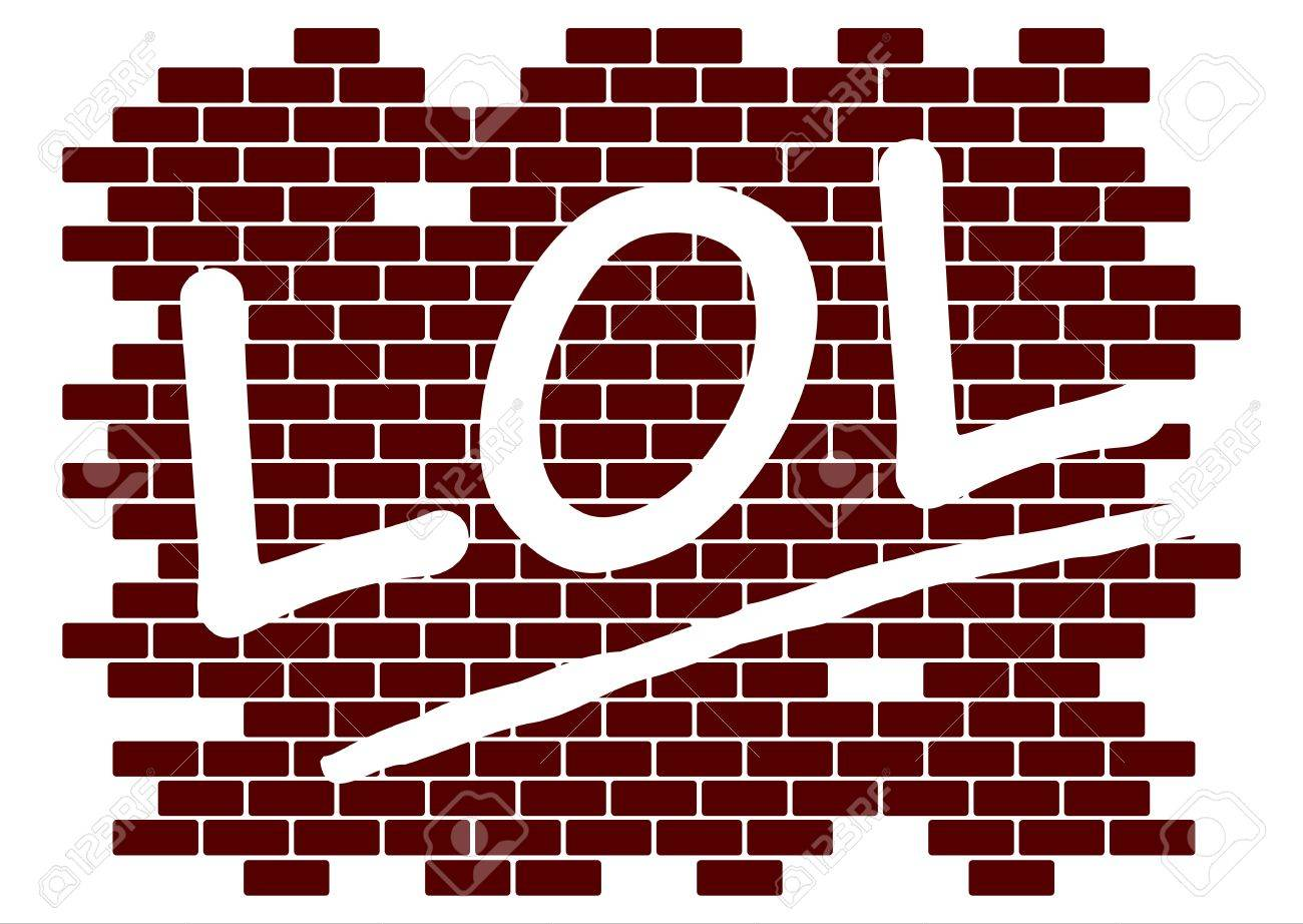 Lol on the wall Stock Vector - 21439559