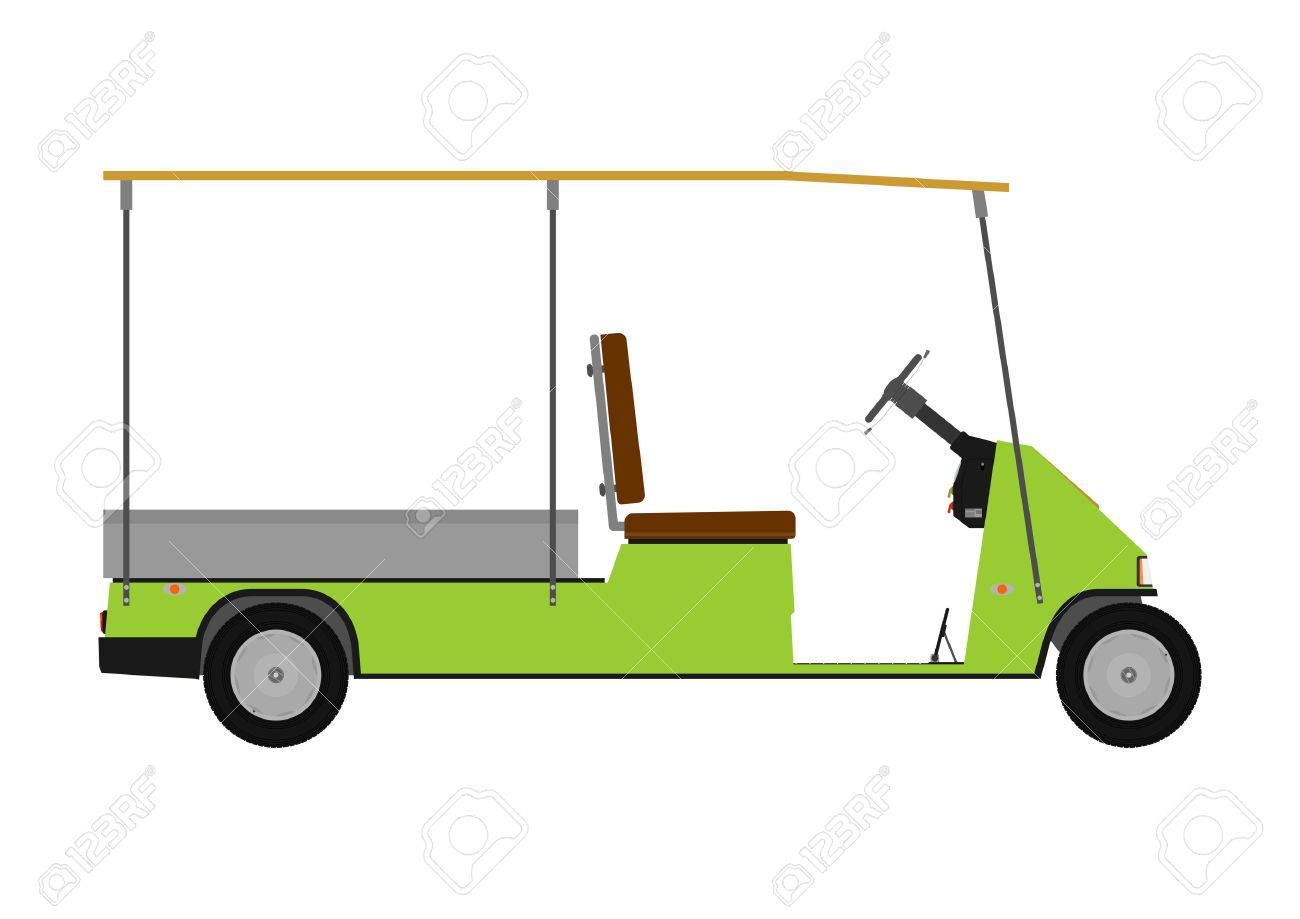 Silhouette Of A Cartoon Golf Cart On A White Background Royalty Free Cliparts Vectors And Stock Illustration Image 28257812