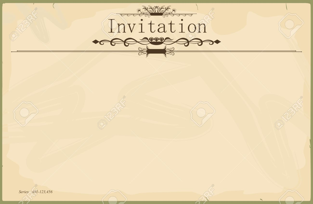 Vintage Blank Invitation Royalty Free Cliparts Vectors And Stock