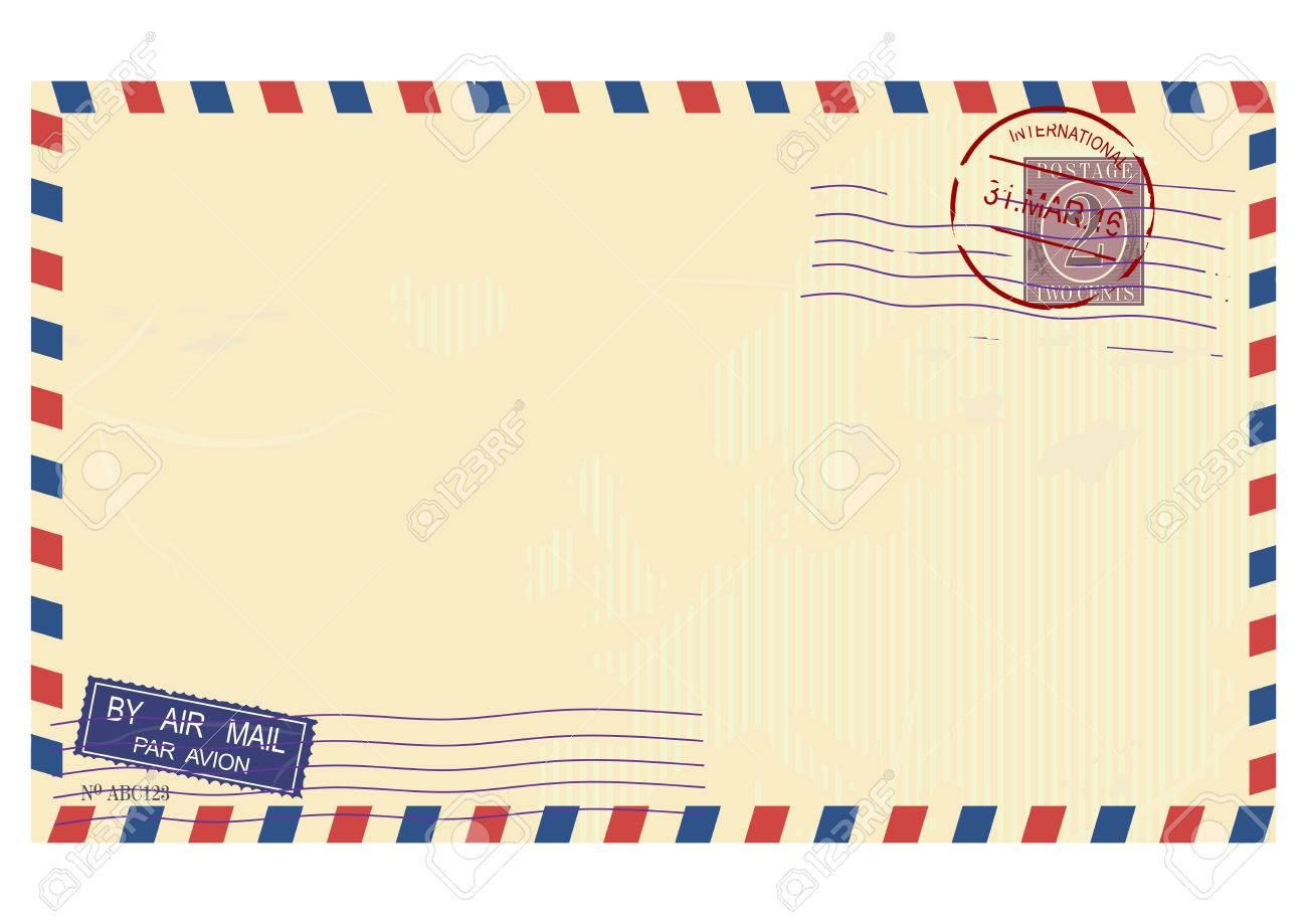 airmail envelope vector base for further top processing without