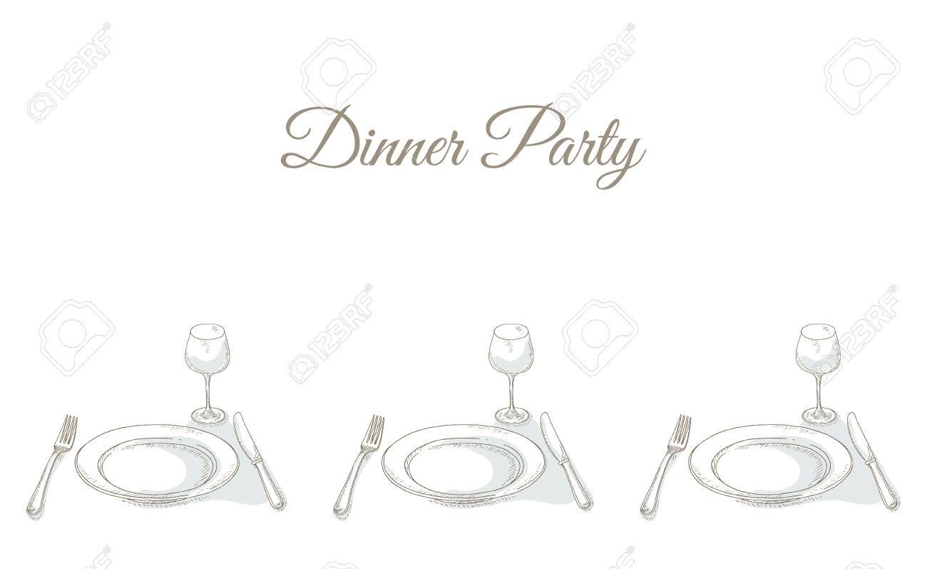 Invitation to a dinner party tableware for dinner party invitation to a dinner party tableware for dinner party restaurant menu cover card stopboris Choice Image