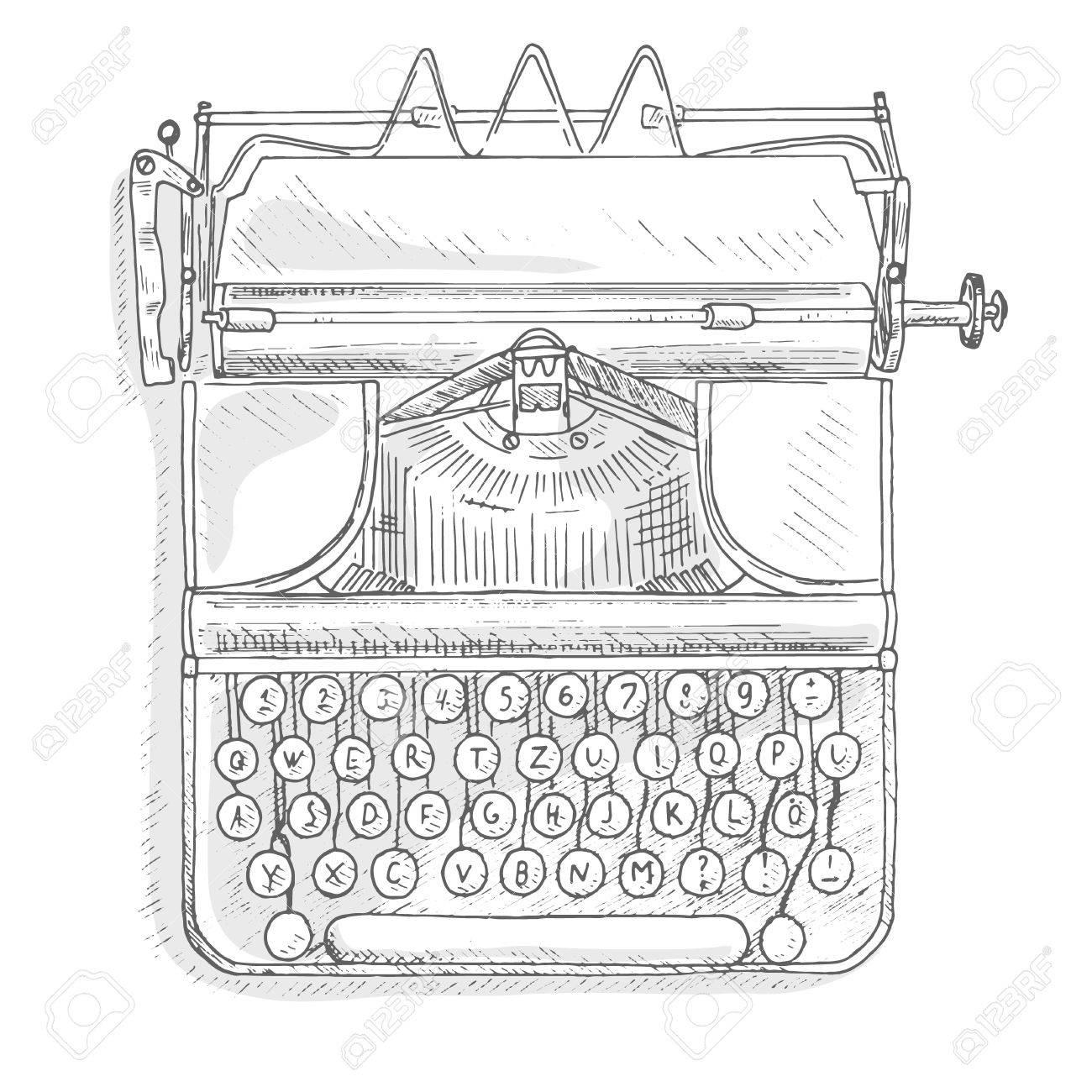 Antique typewriter  Vintage typewriter machine  Journalist equipment