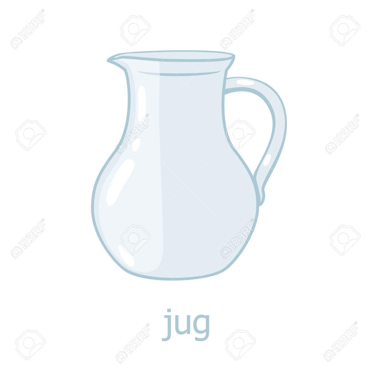 jarra de vidrio ilustracin de dibujos animados de cocina jarra vaca utensilio de