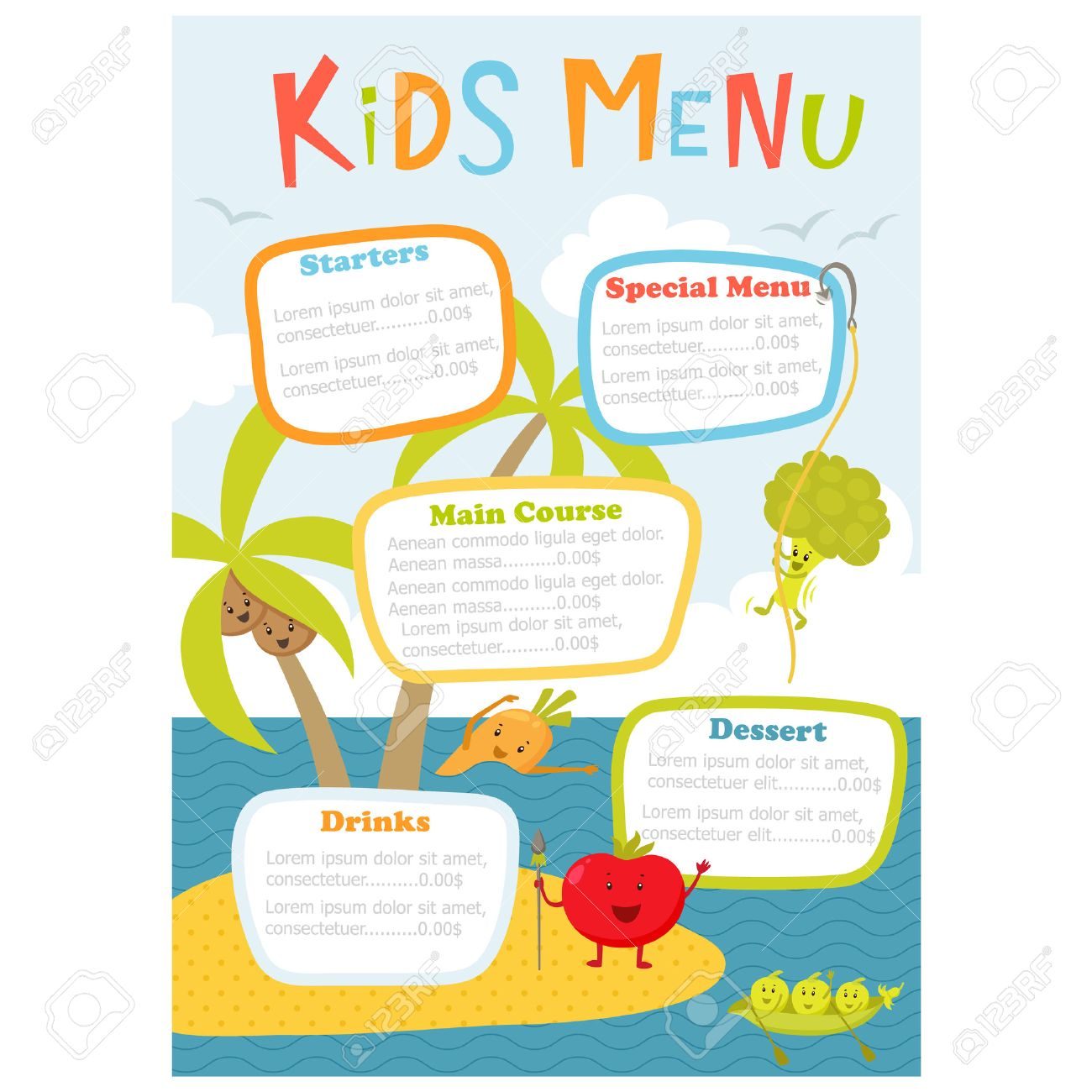 menu templates for kids – Free Kids Menu Templates