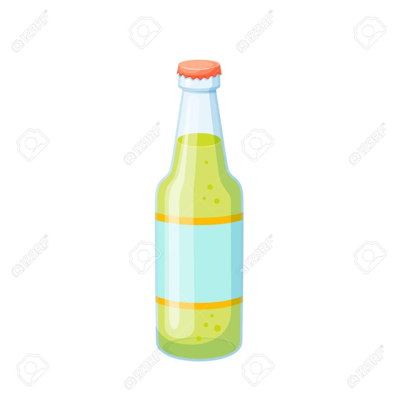 ソーダの瓶ドリンクソーダ ガラス瓶はベクトル イラストです飲料