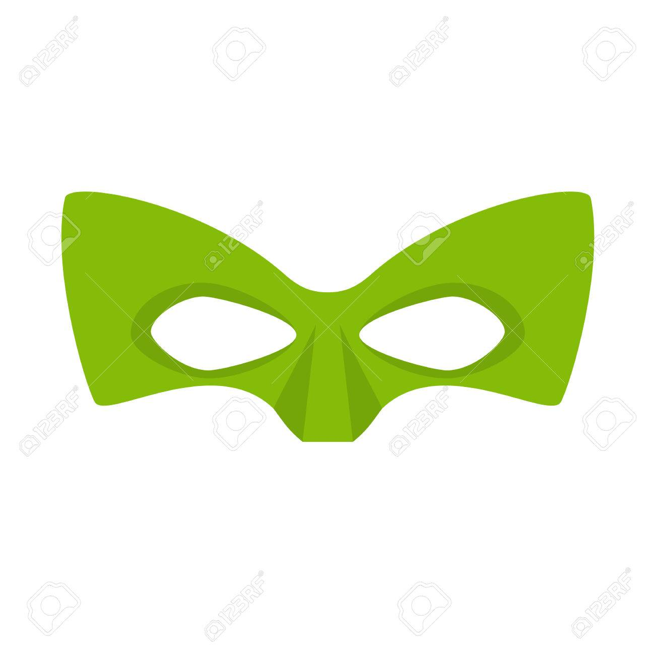 Super hero green mask supperhero mask for face character in super hero green mask supperhero mask for face character in flat style masks of biocorpaavc Image collections