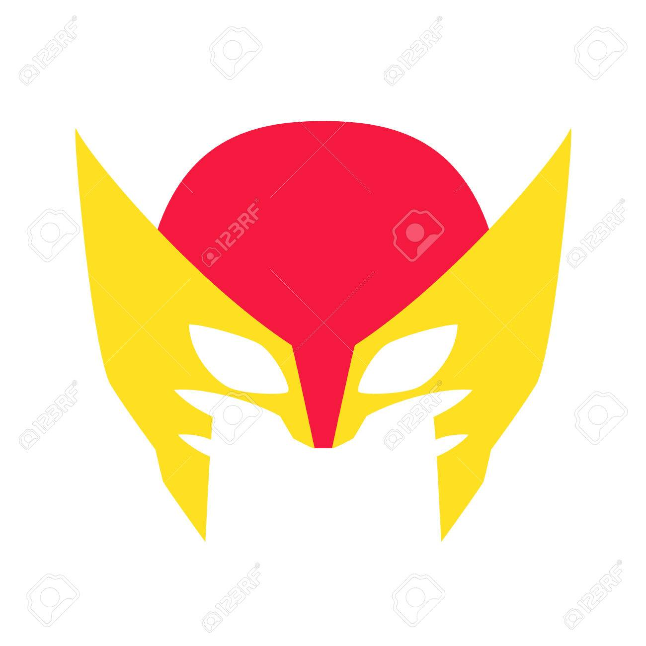 Super hero red mack superhero mask for face character in flat super hero red mack superhero mask for face character in flat style masks of biocorpaavc Image collections