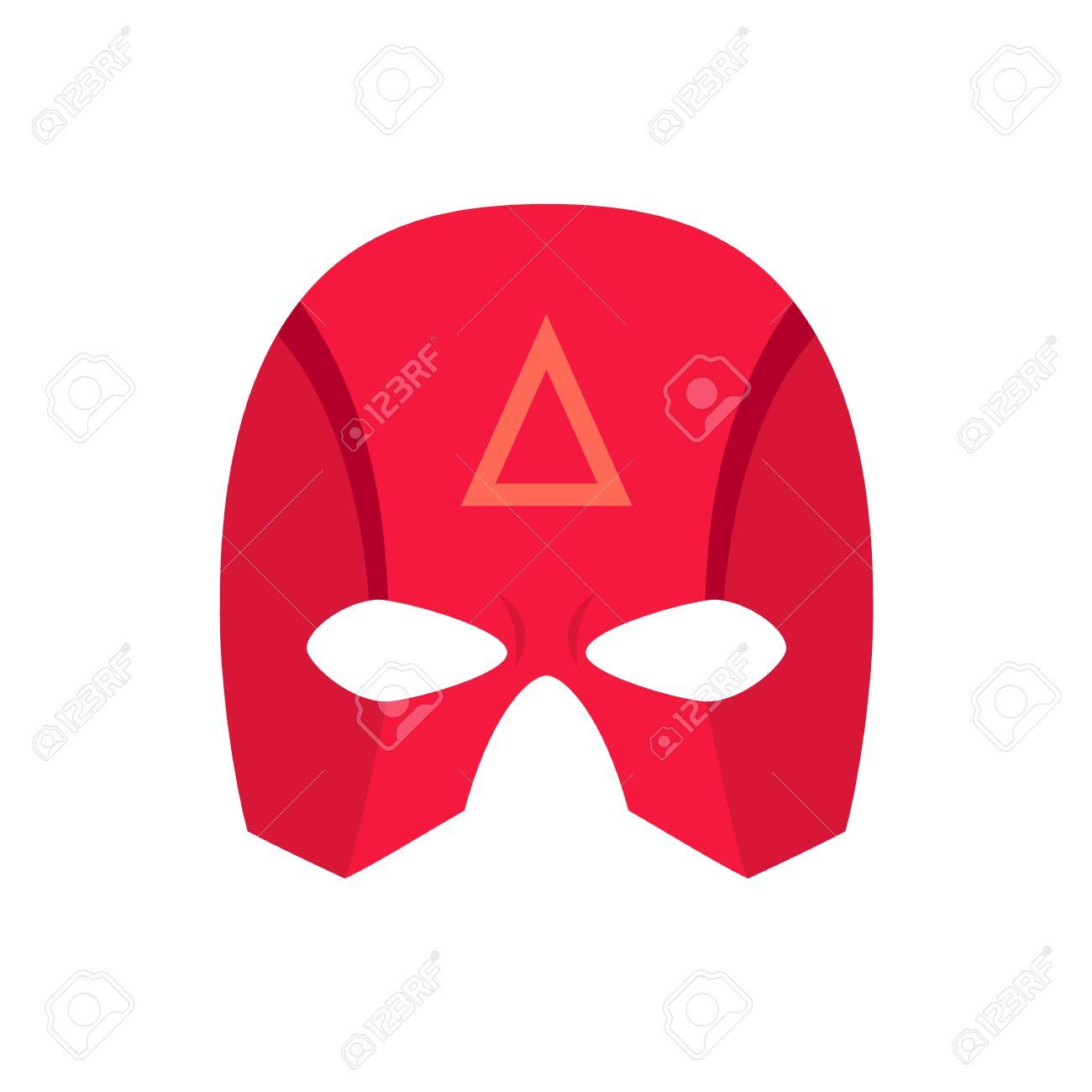 Superheld Rot Mack. Superheld-Maske Für Das Gesicht Charakter In ...