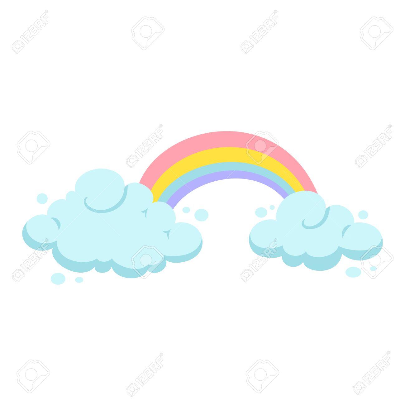 rainbow and clouds cartoon vector rainbow and cloud clipart rh 123rf com