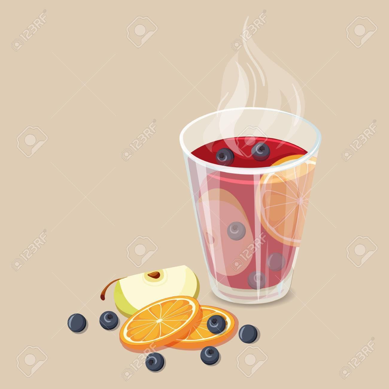 Schlagen. Weihnachten Heiße Getränke-Symbol. Vektor-Illustration Mit ...