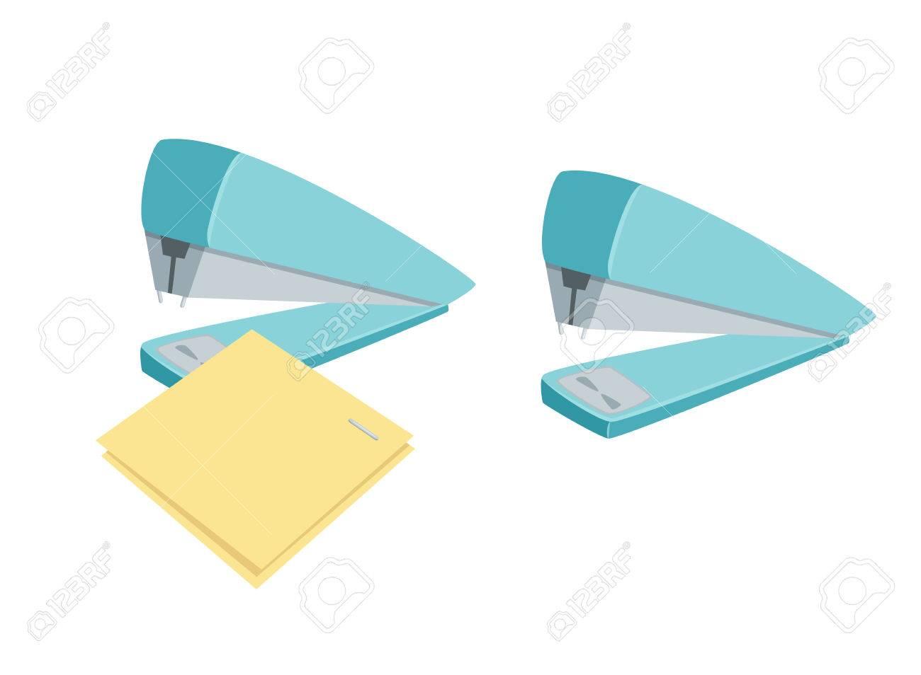 Stapler Staples Sheets. Process Of Staples Documents. Office ...