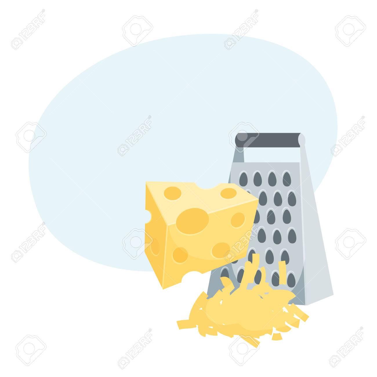 粉チーズ調理プロセスキッチン用品調理器具テーマ ベクトル