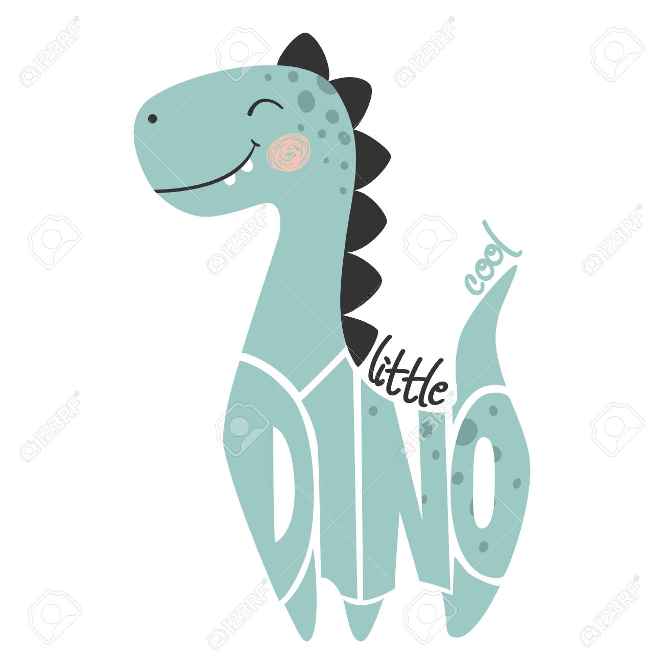 Dinosaur Baby Boy Cute Print. Little